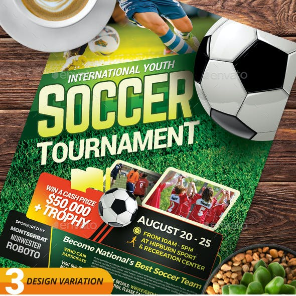 Soccer Tournament Flyer Templates