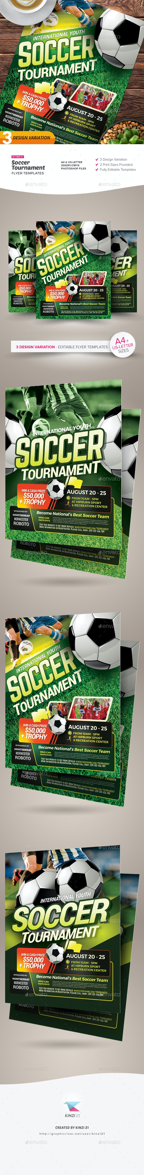 Soccer Tournament Flyer Templates - Sports Events