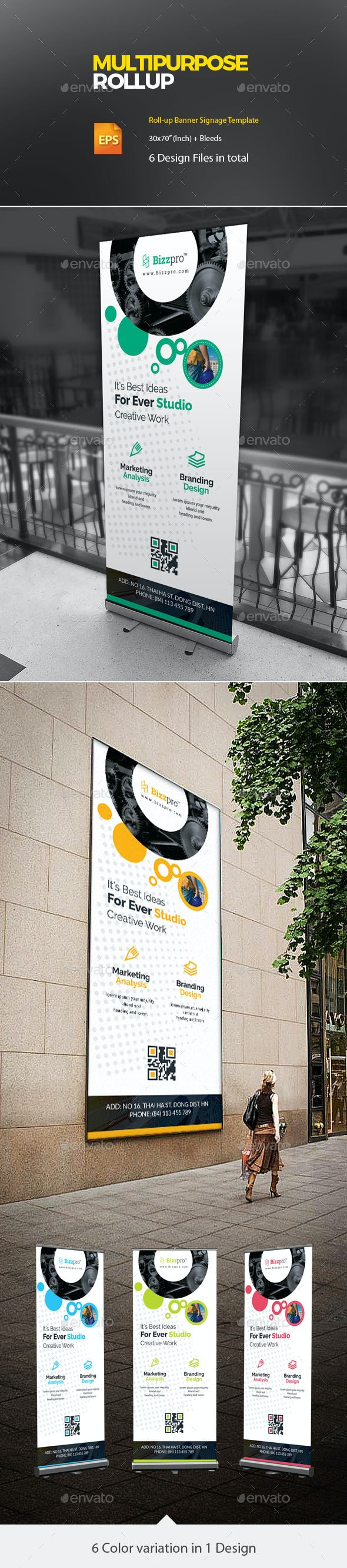 Corporate Roll up - Signage Print Templates