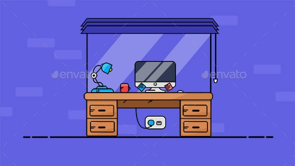 Home Office PC and Desk - Computers Technology