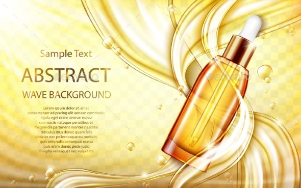 Cosmetic Skin Care Oil or Serum with Splashes - Health/Medicine Conceptual