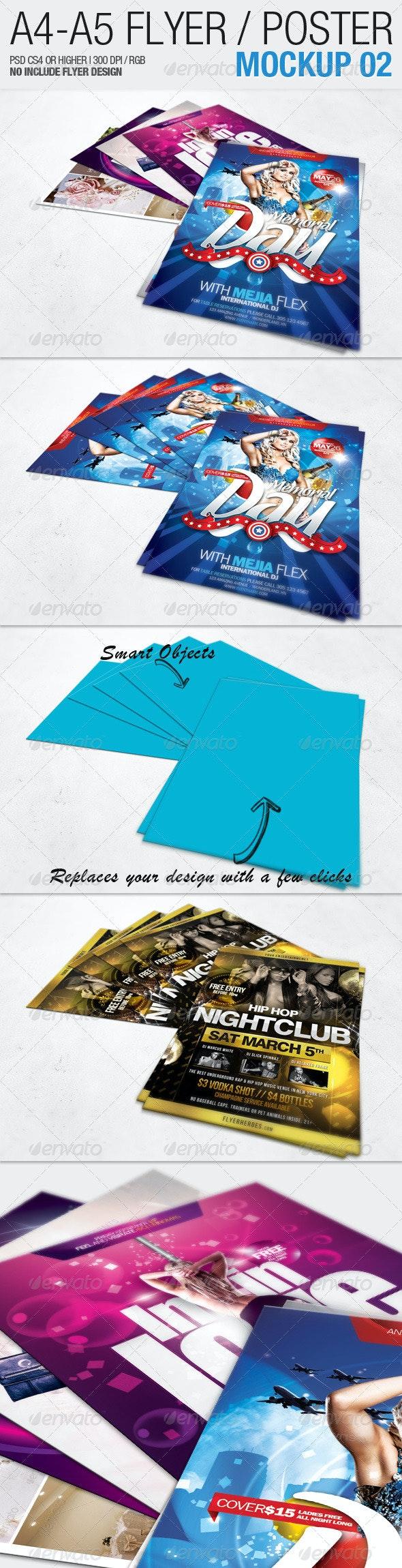 A4 - A5 Flyer Mockup 02 - Flyers Print