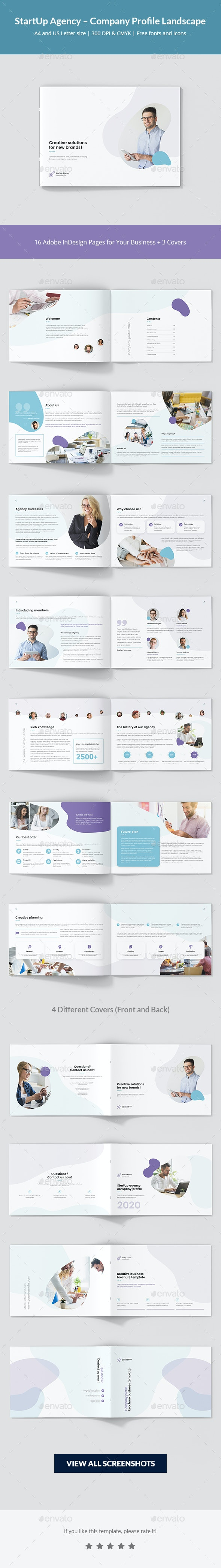 StartUp Agency – Company Profile Landscape - Corporate Brochures