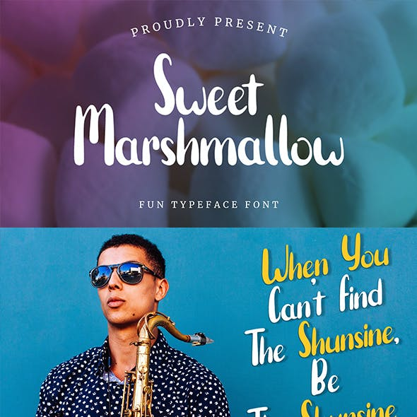 Sweet Marshmallow - Typeface Font