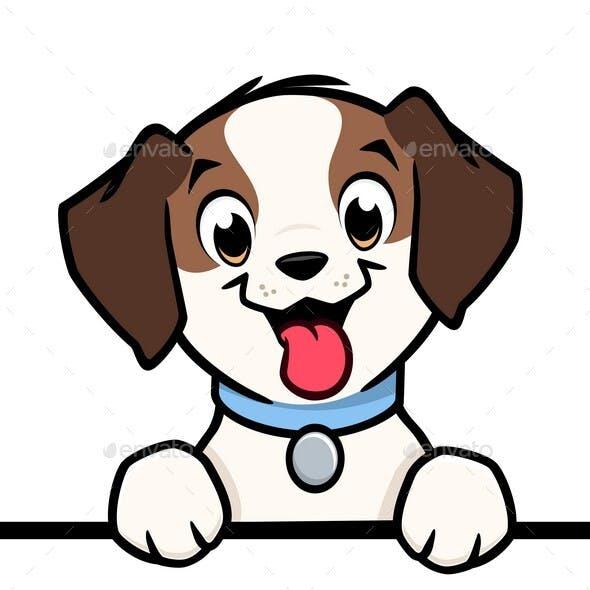 Cartoon Dog Pointer