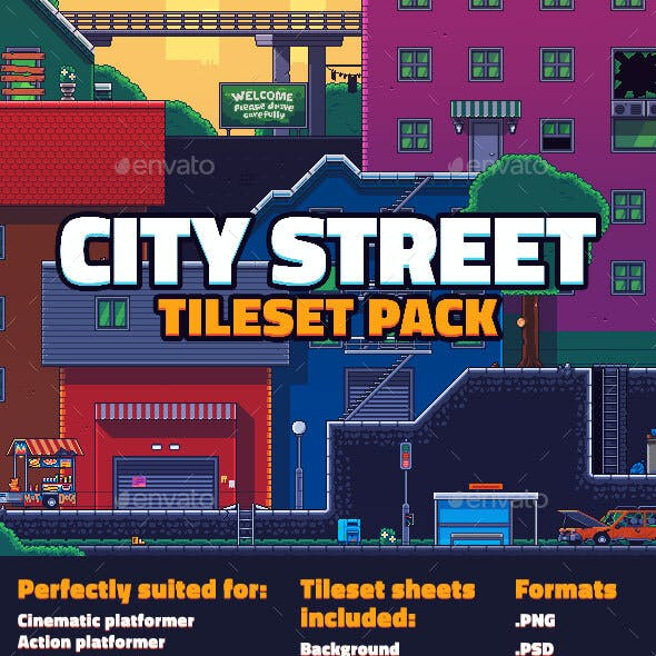 City Street Tileset Pack