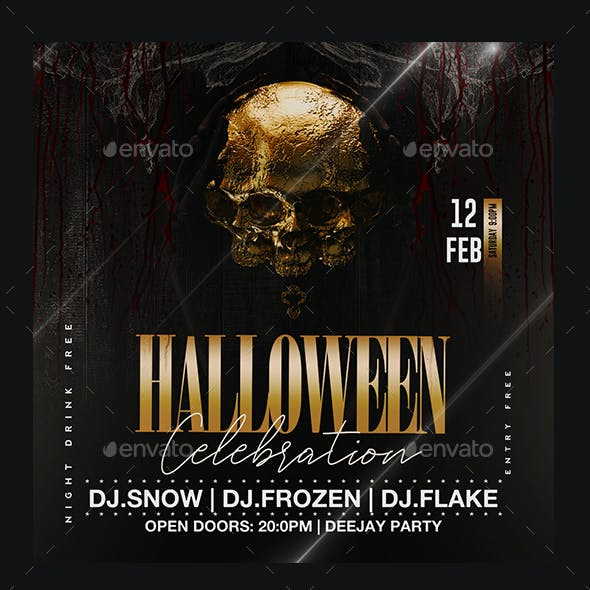 Halloween Flyer Graphics, Designs & Templates from GraphicRiver