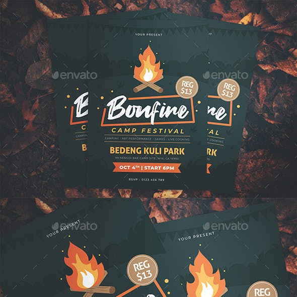 Autumn Bonfire Festival Flyer