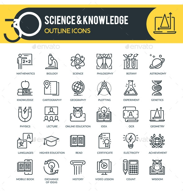Science outline icons - Miscellaneous Icons