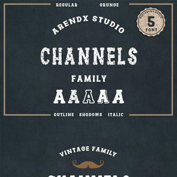 Channels Vintage Typeface