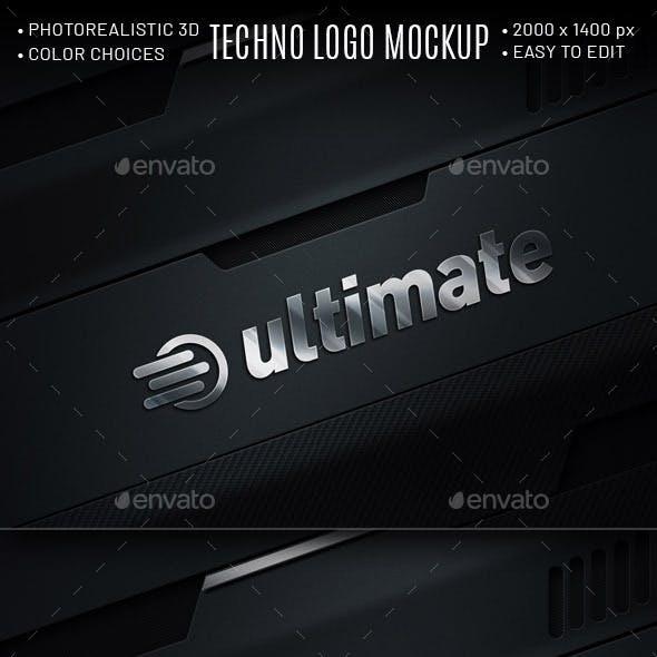 Techno Logo Mockup