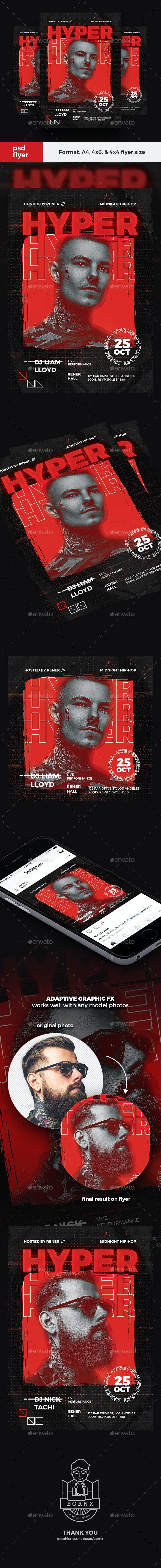 Hip Hop DJ Flyer - Clubs & Parties Events