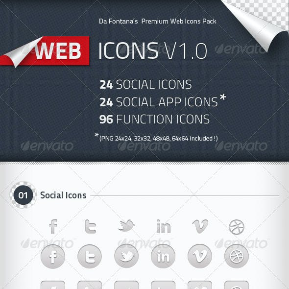 Social Icons, Social App Icons, Function Icons