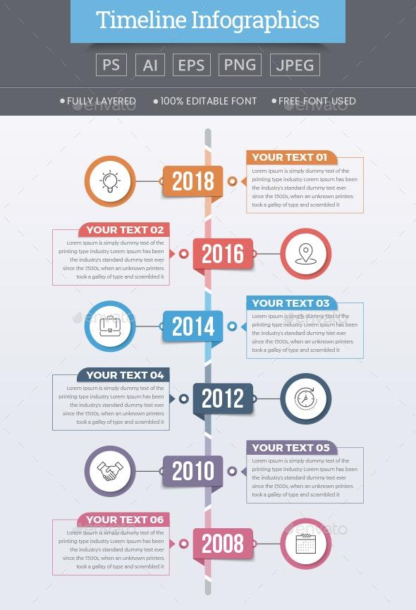 Modern Timeline Infographics - Infographics
