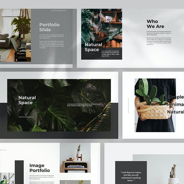 Natural Space Powerpoint Template