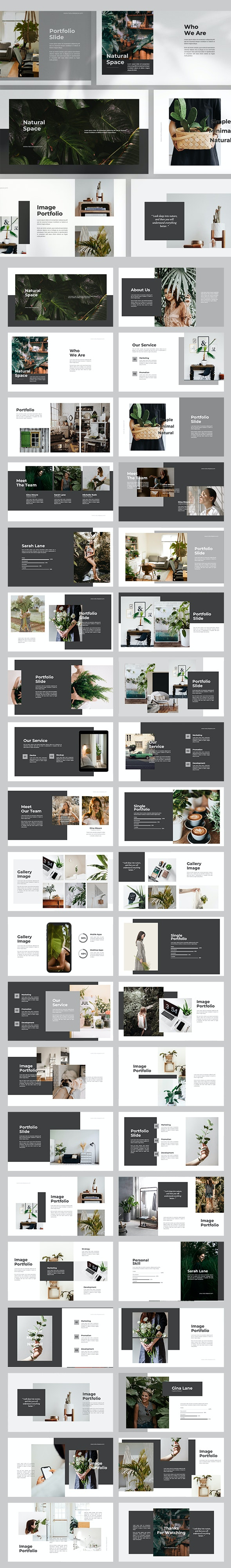 Natural Space Powerpoint Template - Creative PowerPoint Templates
