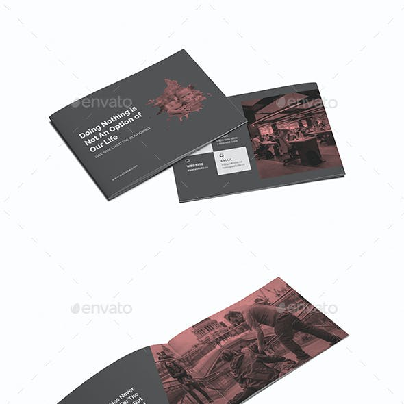 Charity A5 Brochure Template