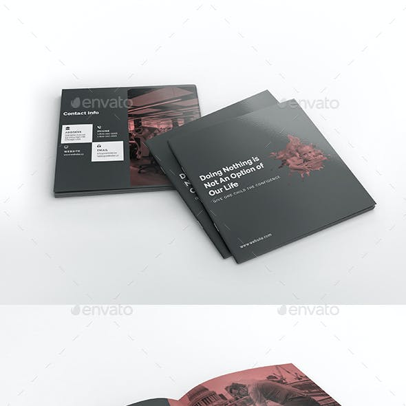 Charity Square Brochure Template
