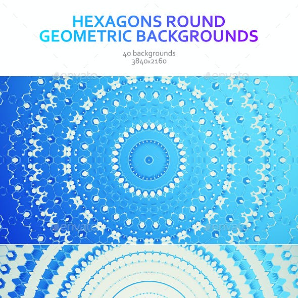 Hexagons Round Geometric Backgrounds
