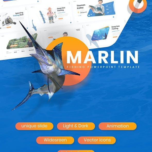 Marlin Fishing Presentation PowerPoint Template