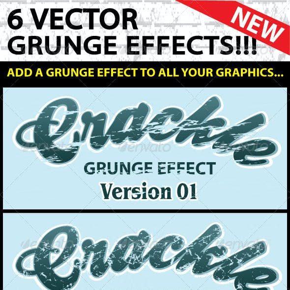 Vector Grunge Crackle Distressed Graphic Effect