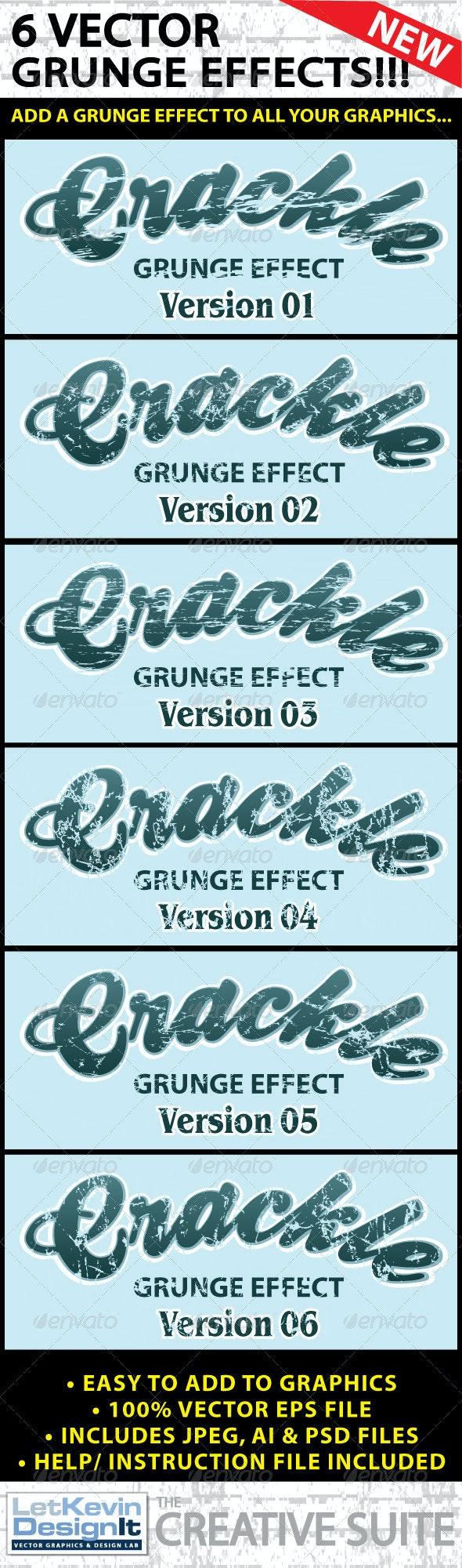 Vector Grunge Crackle Distressed Graphic Effect - Decorative Vectors