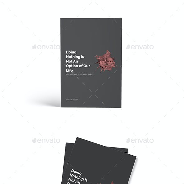 Charity A4 Brochure Template