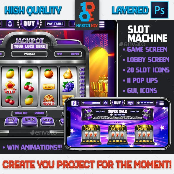 Full Realistic Slot Machine Asset