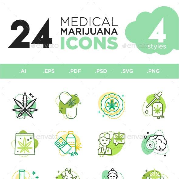 Medical Marijuana icons