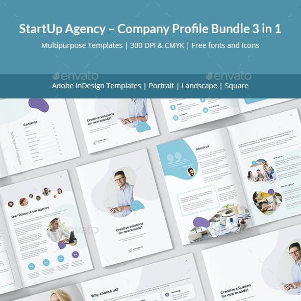 StartUp Agency – Company Profile Bundle 3 in 1