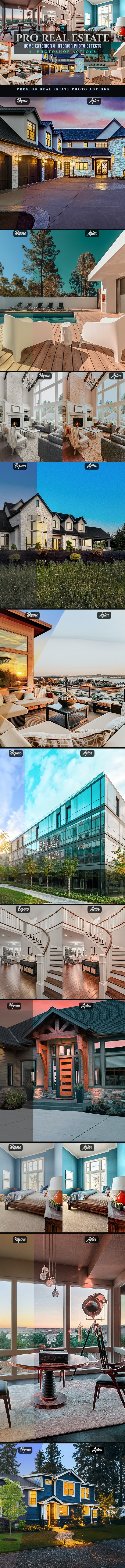 42 PRO Real Estate Photoshop Actions - Photo Effects Actions