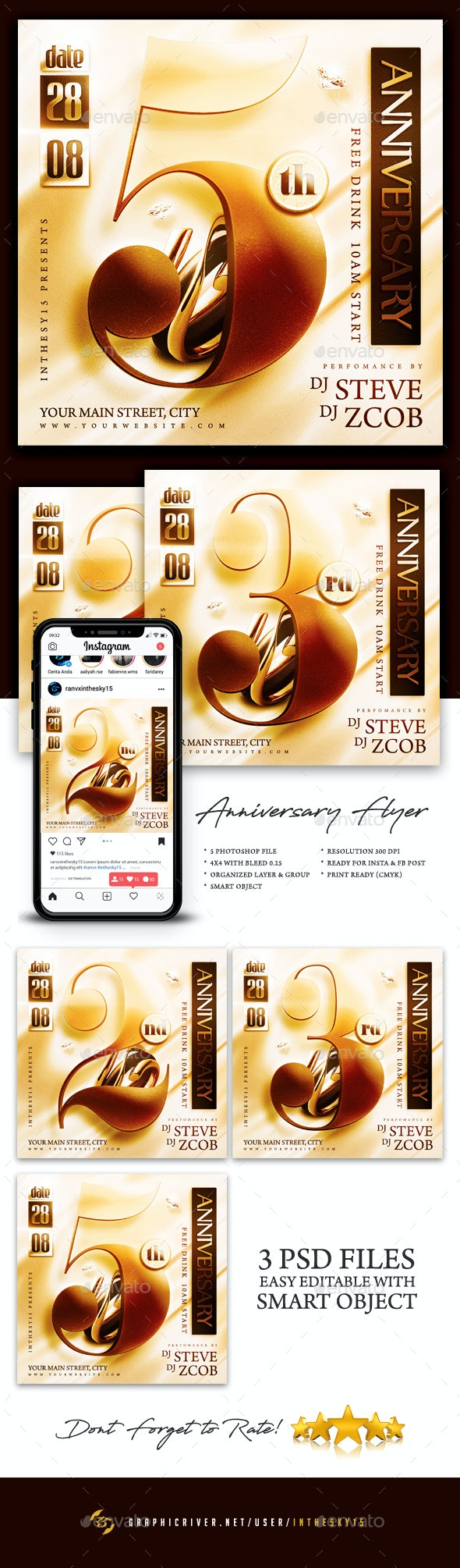 Anniversary Flyer - Miscellaneous Events