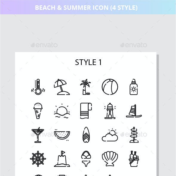 Beach And Summer Iconset