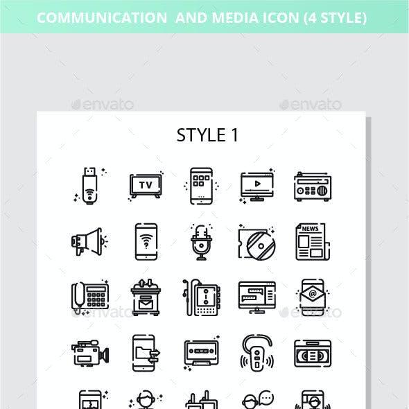 Communication And Media Iconset