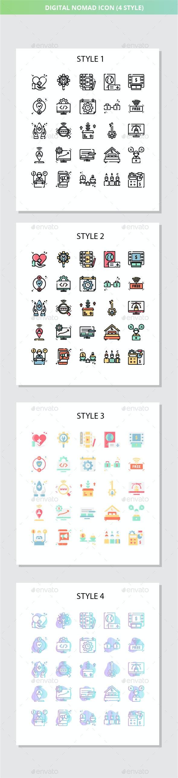 Digital Nomad Iconset - Technology Icons