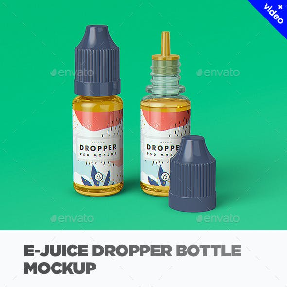 E-Juice Dropper Bottle MockUp