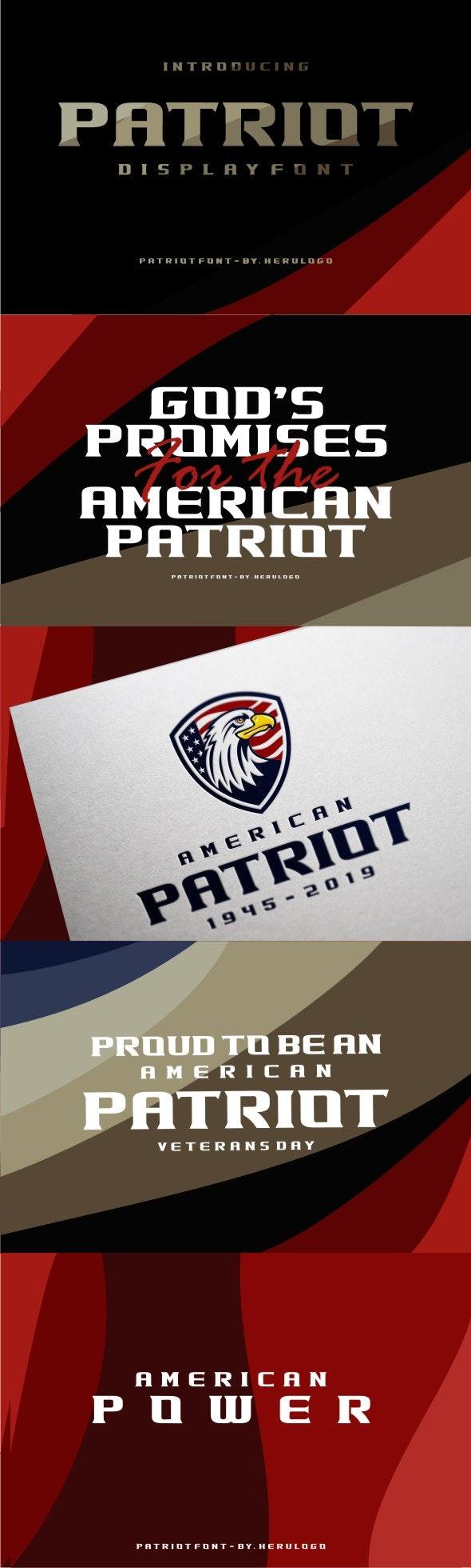 Patriot - Fancy Fonts
