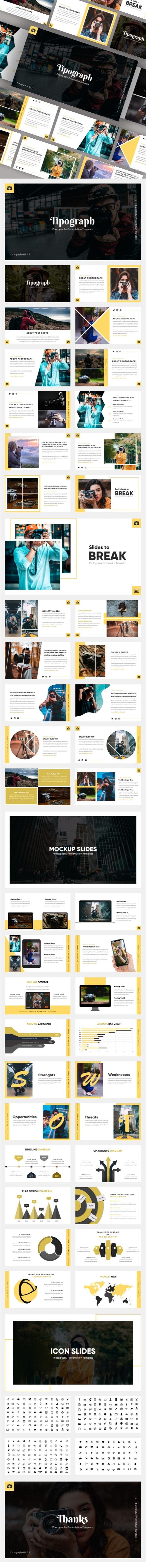 Tipograph - Photography Google Slides Template - Google Slides Presentation Templates