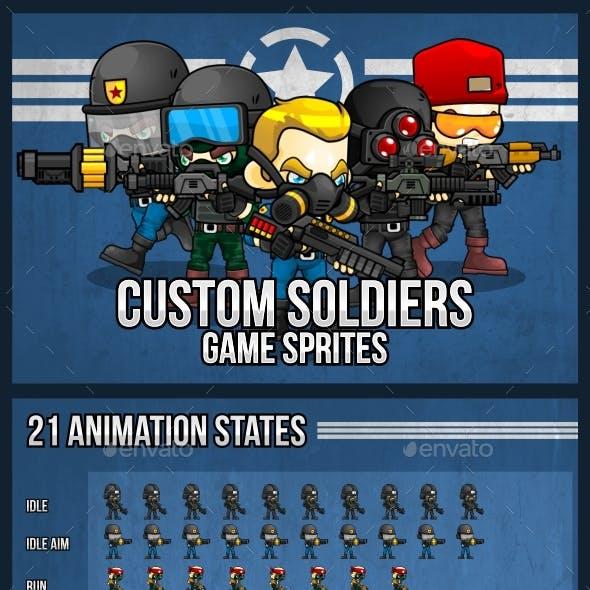 Custom Soldiers - Game Sprites