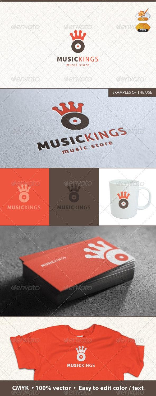 Music Kings Logo Template - Symbols Logo Templates