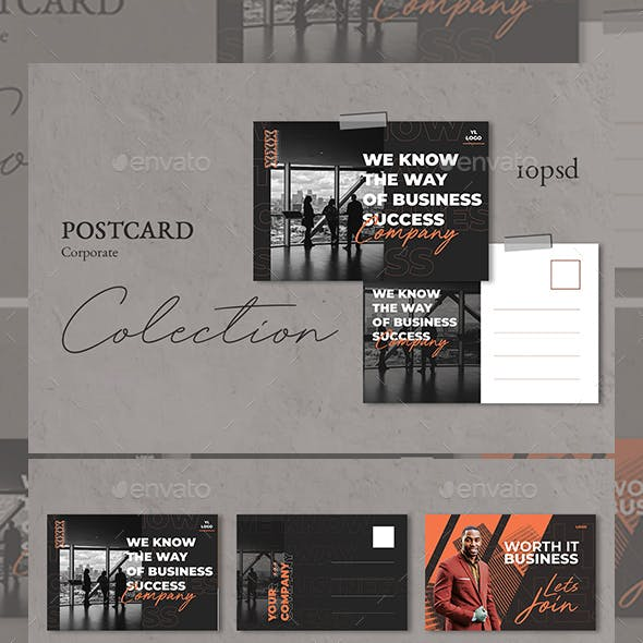 Business Conference Postcard Templates