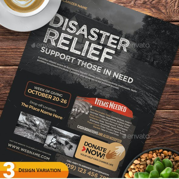 Disaster Relief Flyer Templates