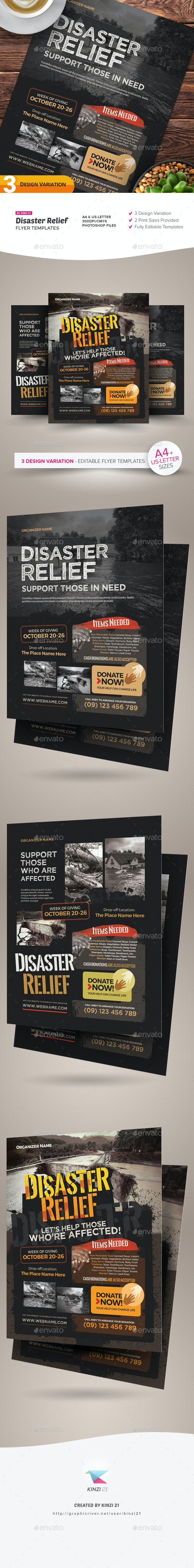 Disaster Relief Flyer Templates - Miscellaneous Events