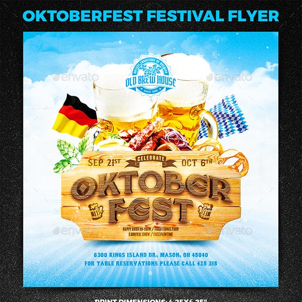 Oktoberfest Festival Square Flyer vol.1