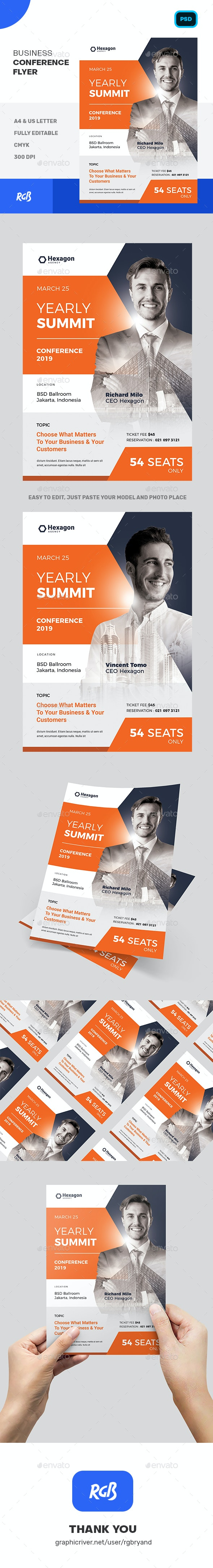 Business Conference Flyer Template - Corporate Flyers