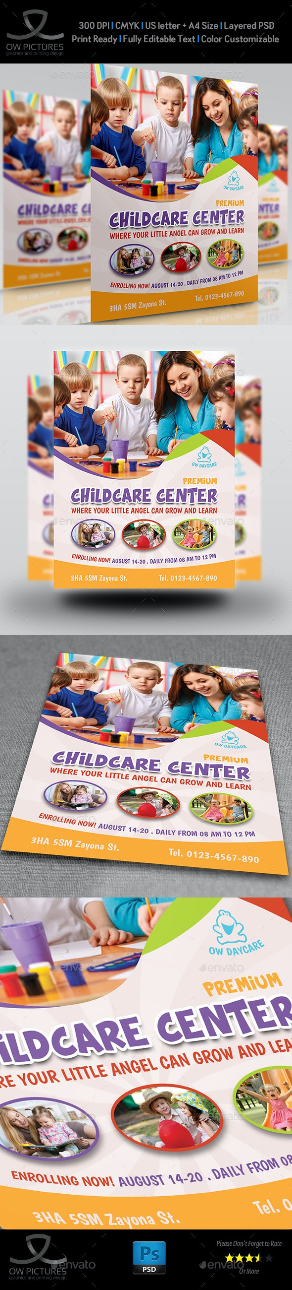 Childcare - Daycare - Children Flyer Template - Corporate Flyers