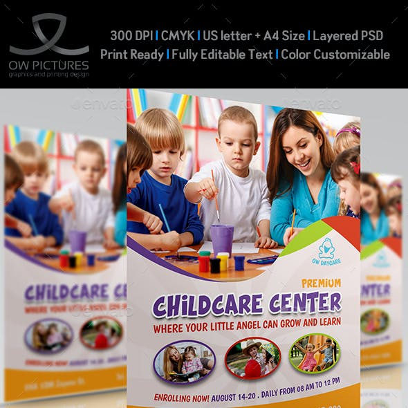 Childcare - Daycare - Children Flyer Template