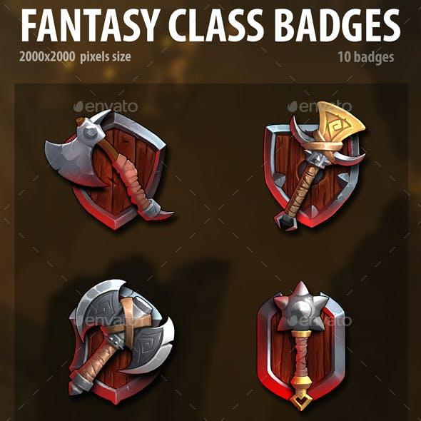 Fantasy Class Badges