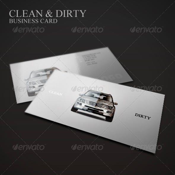 Clean & Dirty Business Card | Car Polish