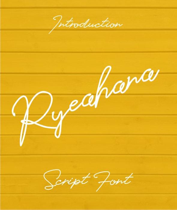Ryeahana Font - Script Fonts